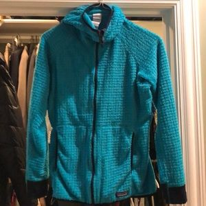 Teal w navy trim Patagonia zip up